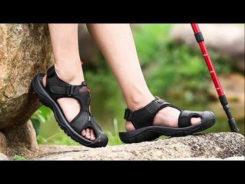 Брендовая обувь из натуральной кожи. Сандали мужские