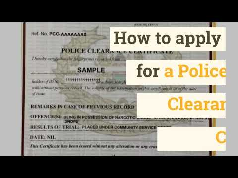 How to apply for a Police Clearance Certificate online
