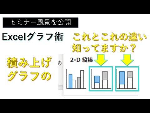 【エクセル】100%積み上げグラフ