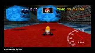 "Mario Kart 64 - Time Trials - Bowser's Castle 02'17""84 Elite A [N64 PAL]"