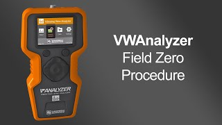 using the vwanalyzer to perform a field zero measurement