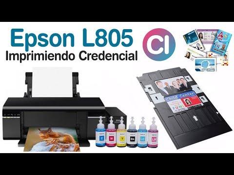 Epson L805 Imprimiendo Credenciales PVC Plásticas - Gift Cards