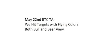 May 22nd BTC TA - We Hit Targets with Flying Colors - Both Bull and Bear View