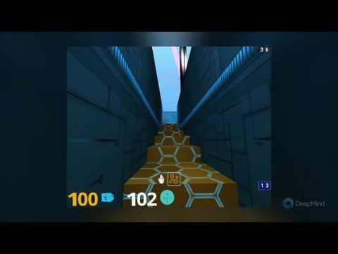 DeepMind Lab - Stairway to Melon Level
