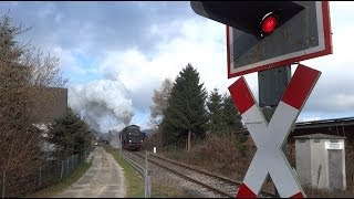 preview picture of video 'Landshut-Neuhausen - Dampflok-Sonderfahrten am 1. Advent 2013'