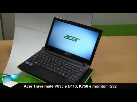 Acer Travelmate P633 e B113, proiettore K750, monitor touch T232