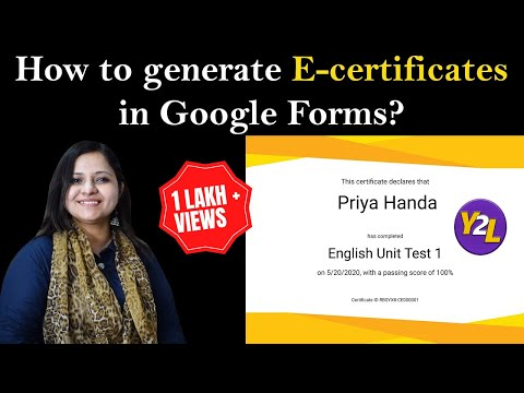 How to generate e-certificates from Google Form ? | How to create e ...
