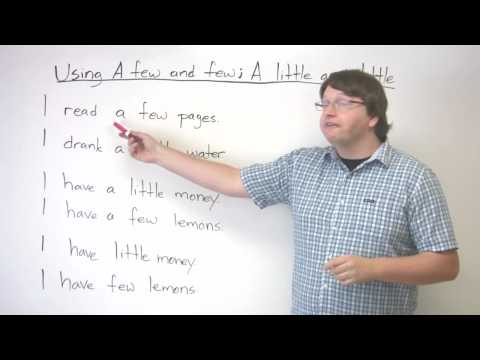 Lekce angličtiny – few a little
