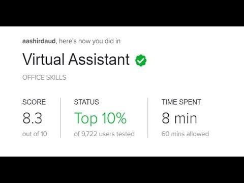 Fiverr Virtual Assistant Skill Test in 2020 1st Attempt   Q&A Score 8.3 ...