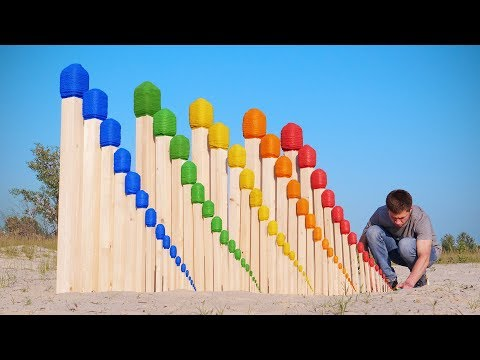 Fire Domino Giant Match Chain Reaction | RACE OF COLORS