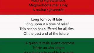 National anthem of Hungary - Himnusz (HU/EN/ESP lyrics)