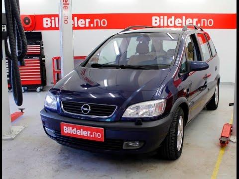 Opel Zafira: Hvordan bytte dynamo, 1.8 bensin - 1999 til 2005 mod.