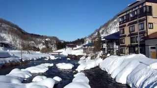 冬の肘折温泉郷山形県大蔵村