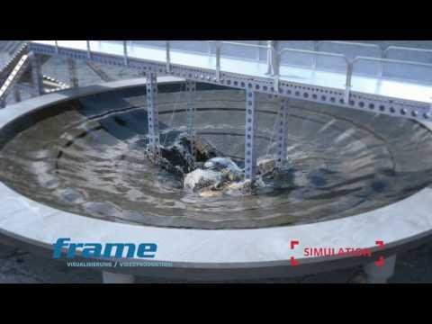 Simulation Wasserkaskade