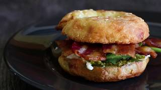 Keto Bacon Breakfast Bagels Recipe