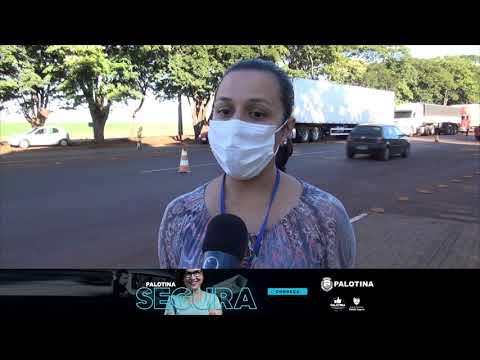 Palotina inicia barreira sanitária para combater o coronavírus