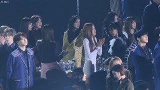 180125 블랙핑크 (BLACKPINK),레드벨벳 (Red Velvet) BTS_DNA 대상 앵콜  무대 리액션 직캠 Fancam (2018 서울가요대상) by Mera