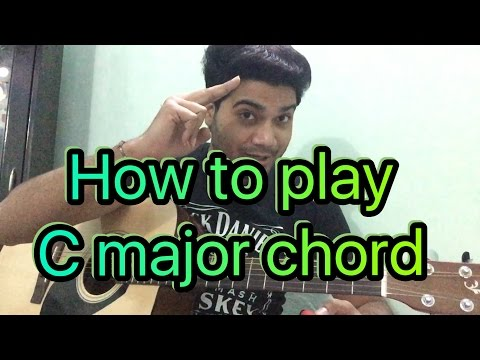 Basic guitar lesson  (class - 13) How to Play the C major Chord (In Hindi)