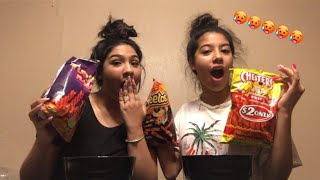 WHO COULD EAT THE SPICIEST CHIPS FASTER CHALLENGE!!