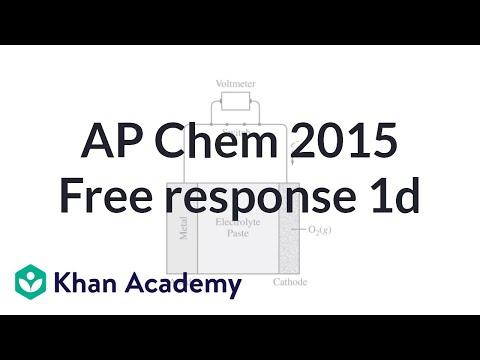 2015 AP Chemistry free response 1d (video) | Khan Academy