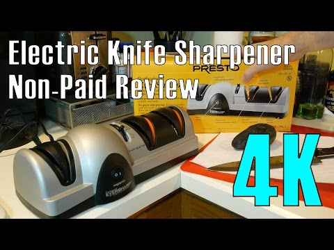 Eversharp 3 Stage Electric Knife Sharpener by Presto Product Review in 4K (non-paid)