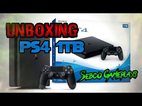 Abriendo nuevo paquete del PS4 de un 1TB