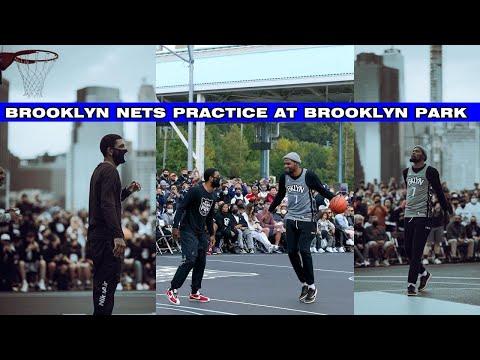 Kyrie Irving VS Kevin Durant 1 ON 1 & Brooklyn Nets PRACTICE At Brooklyn Bridge Park