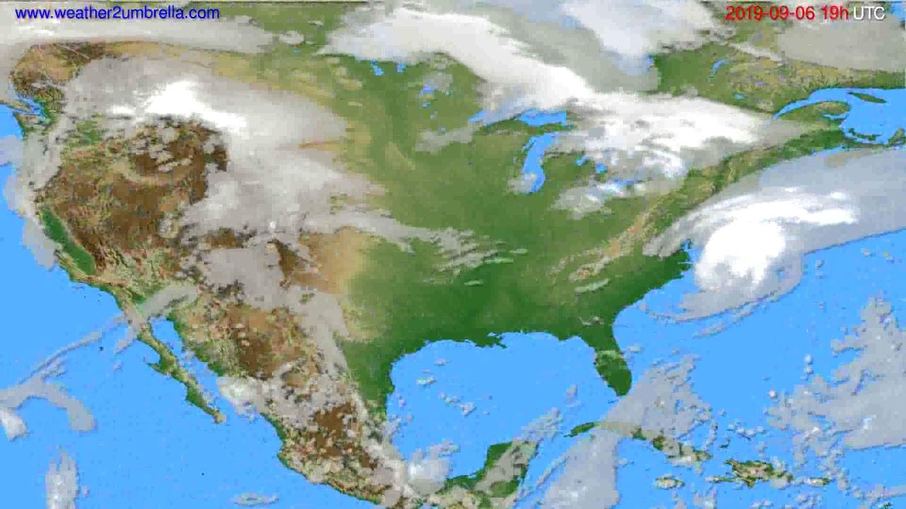 Cloud forecast USA & Canada // modelrun: 12h UTC 2019-09-03