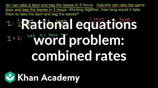 Applying Rational Equations 1