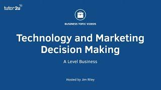 Tecnología y toma de decisión en marketing
