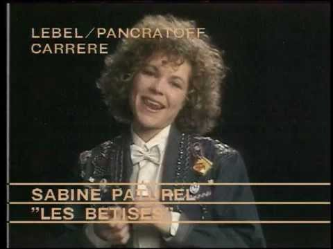 Sabine Paturel - Les Bêtises - ClubMusic80s - clip officiel
