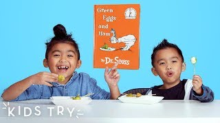Kids Try Green Eggs from Around the World | Kids Try | HiHo Kids