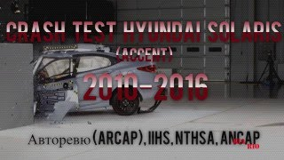 Сборник краш тестов Hyundai Solaris 2010-2016 | CRASH TEST Hyundai ACCENT