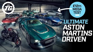 ULTIMATE £12m Aston Martin test! Victor, Vulcan, One-77, V8 Cygnet and Aston Motorbike | Top Gear