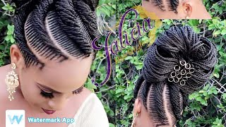 #23 Tiny Natural Hair Braiding With Extensions |Freestyle Braiding