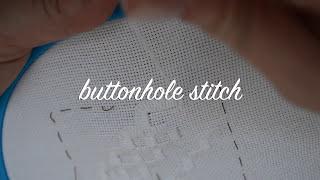 Buttonhole Stitch Hardanger