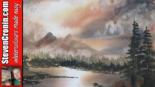 Mountain Sunset Watercolour Painting Demonstration