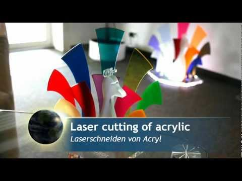 Coloured acrylic decorations | Laser cutting and engraving