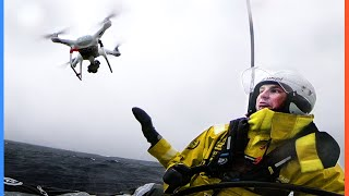 Extreme Drone Catches ????????| The Ocean Race