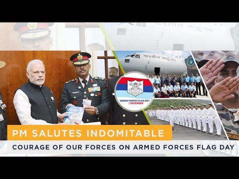 PM salutes indomitable courage of our forces on Armed Forces Flag Day