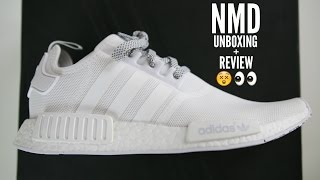 huge discount ae457 92156 Adidas NMD White Unboxing Review + How To Style Mens Fashion 2016 - hmong. video
