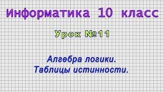 Информатика 10 класс Урок11