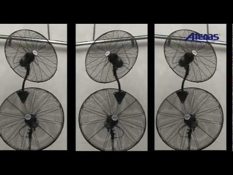 Ventiladores Industriales de Pared, Pie, Carrito y Colgantes - Atenas Ventilacion