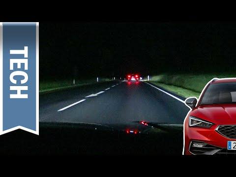 Voll-LED-Scheinwerfer im Seat Leon 2020 im Test bei Nachtfahrt: Lohnen sie sich ohne Matrix-LED?