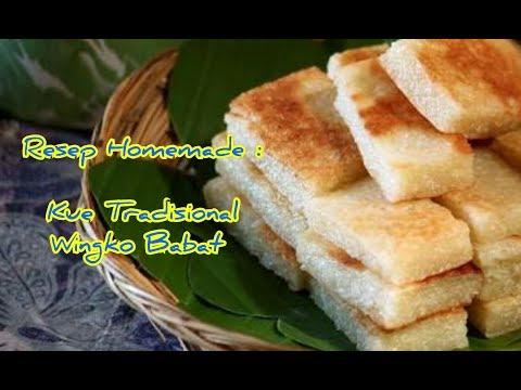 Video Resep Dan Cara Membuat Kue Tradisional Wingko Babat Manis, Empuk & Lezat