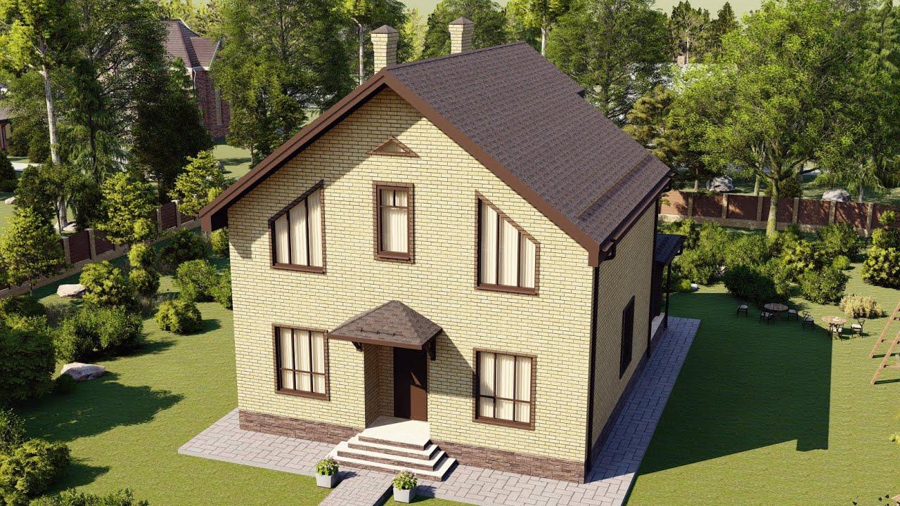 Удачный проект мансардного дома из газобетонных блоков 139 м2