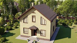 Проект дома 139-A, Площадь дома: 139 м2, Размер дома:  10,2x11 м