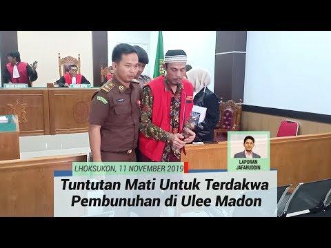 Terdakwa Pembunuhan di Ulee Madon Aceh Utara, Aidil Ginting Dituntut Hukuman Mati