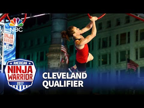Michelle Warnky at the Cleveland Qualifiers - American Ninja Warrior 2017