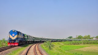 Silk City Express Train passing the most beautiful rail curve at Ishwardi Bypass Railway Station